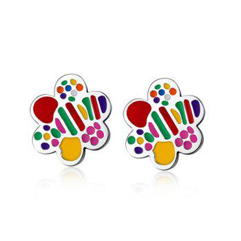 Pair of Stunning Colored Floral Earrings For Women