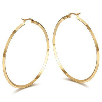 Pair of Circle Titanium Steel Earrings