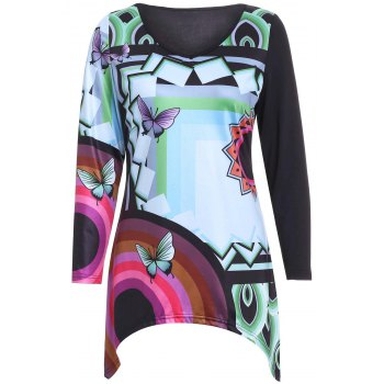 Casual Women's Butterfly Print Long Sleeves Blouse