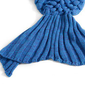 Fish Scale Tail Shape Sleeping Bag Knitting Mermaid Blanket -  ROYAL BLUE