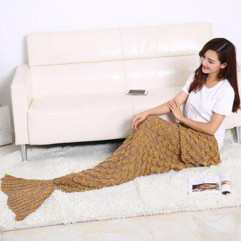 Fish Scale Tail Shape Sleeping Bag Knitting Mermaid Blanket - GINGER GINGER