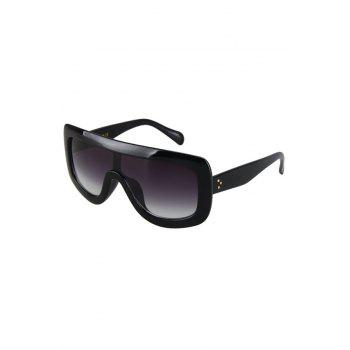 Chic Cool Black Wrap Sunglasses For Women - BLACK BLACK