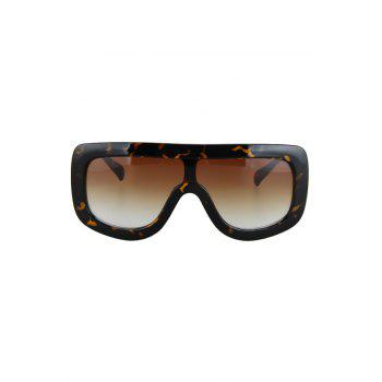 Chic Leopard Wrap Sunglasses For Women -  BLACK