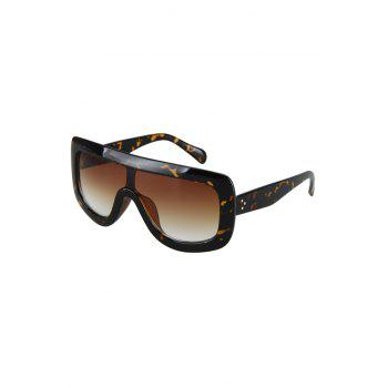 Chic Leopard Wrap Sunglasses For Women - BLACK BLACK