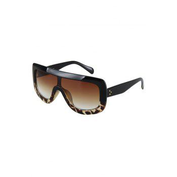 Chic Black Match Leopard Wrap Sunglasses For Women - BLACK BLACK