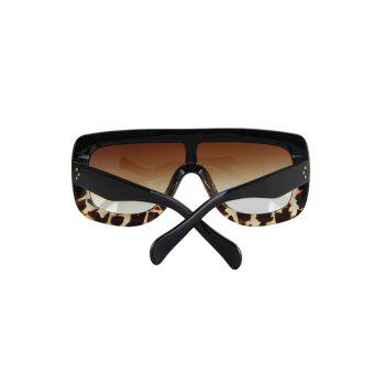 Chic Black Match Leopard Wrap Sunglasses For Women -  BLACK