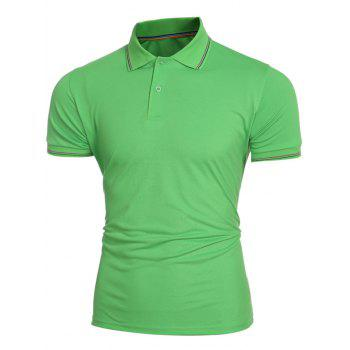 Collier Laconic Turn-down Colorful Stripes Men  's Polo manches courtes T-shirt - Vert M