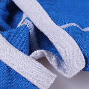 Color Block Men's U Pouch Elastic Waist Boxers - BLUE XL