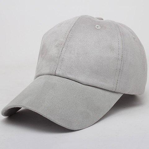 Chic Candy Color Women's Suede Baseball Cap - GRAY