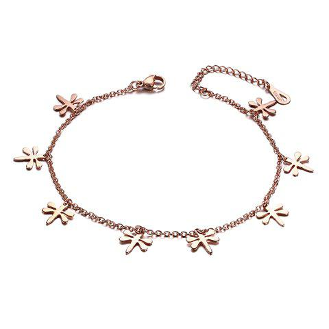 Fresh Dragonfly Solid Color Anklet For Women - ROSE GOLD