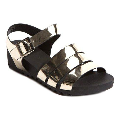Leisure Solid Colour and Platform Design Women's Sandals