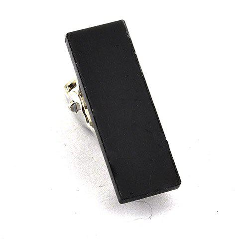 Stylish Black Rectangle Embellished Men's Alloy Tie Clip - BLACK