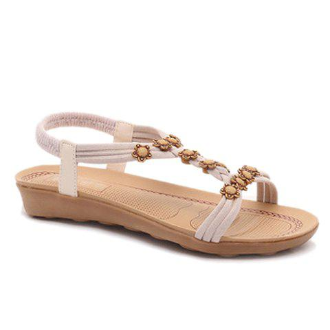Leisure Flowers and Elastic Band Design Women's Sandals