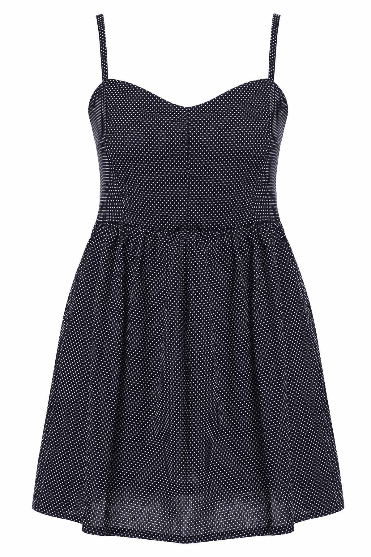 Chic Strappy Women's Sundress - BLACK M