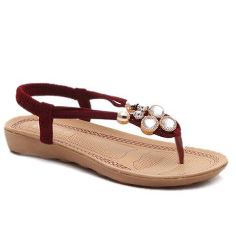 Simple Flat Heel and Elastic Design Women's Sandals