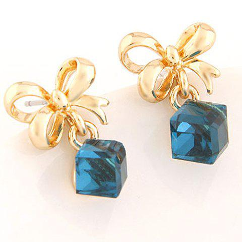 Pair of Chic Alloy Bowknot Earrings Jewelry For Women