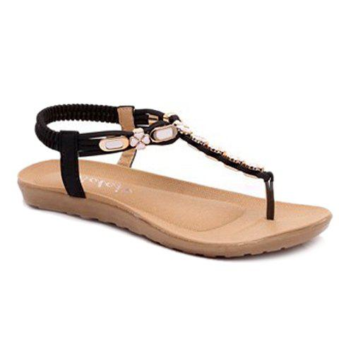 Casual Elastic Band and Flip Flop Design Women's Sandals