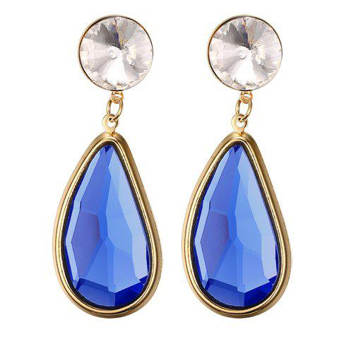 Pair of Chic Faux Sapphire Water Drop Earrings For Women