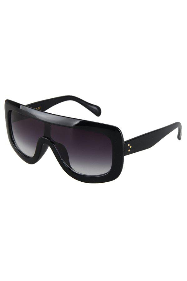 Chic Cool Black Wrap Sunglasses For Women - BLACK