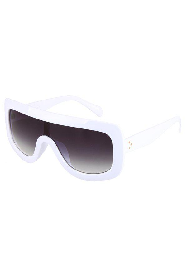 Chic White Wrap Sunglasses For Women -  WHITE