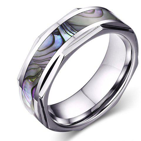 Trendy Shell Print Tungsten Carbide Ring For Men