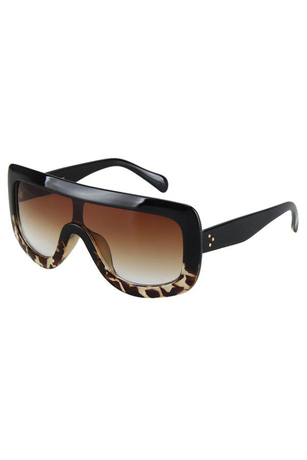 Chic Black Match Leopard Wrap Sunglasses For Women