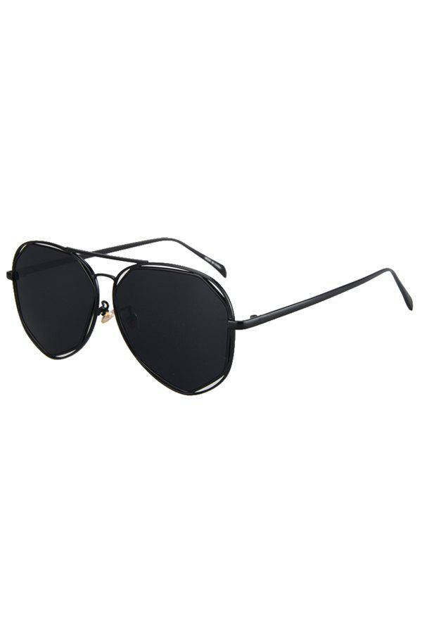 Chic Black Irregular Alloy Frame Sunglasses For Women - BLACK