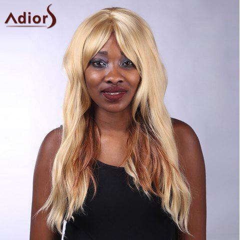 Adiors Side Bang Long Heat Resistant Synthetic Women's Wig - COLORMIX
