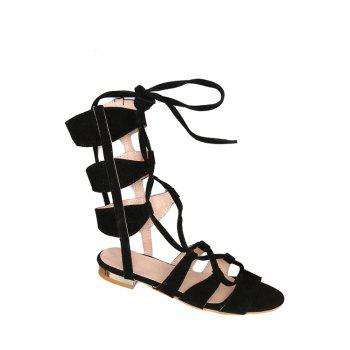 Casual Lace-Up and Solid Color Design Sandals For Women