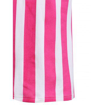 Fashion Round Neck American Flag Print Men's Hit Color Tank Top - M M