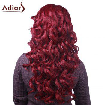 Fluffy Curly synthétique Attractive longue rouge capless Adiors perruque pour les femmes - Rouge