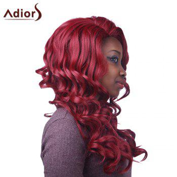 Fluffy Curly Synthetic Attractive Long Red Capless Adiors Wig For Women - RED