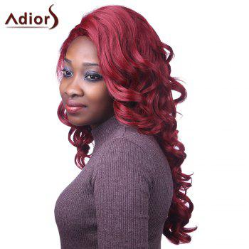 Fluffy Curly Synthetic Attractive Long Red Capless Adiors Wig For Women