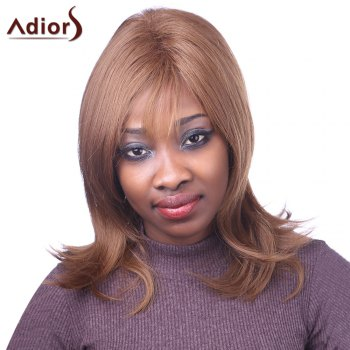Elegant Light Brown Capless Natural Straight Long Women's Synthetic Adiors Wig