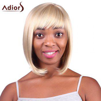 Bob Style Blonde Mixed Synthetic Fashion Short Straight Capless Adiors Wig For Women