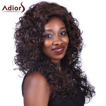 Adiors Curly Long Heat Resistant Synthetic Women's Wig - COLORMIX