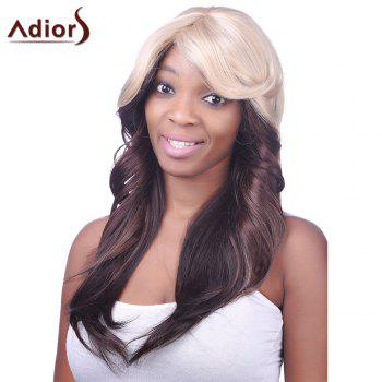 Charming Sexy Side Bang Heat-Resistant Fibre Long Wavy Synthetic Capless Women's Ombre Wig - COLORMIX COLORMIX