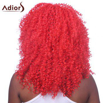 Shaggy Afro Curly Capless Fashion Red Long Heat Resistant Fiber Wig For Women - RED