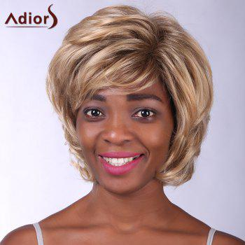 Noble Short Side Bang Heat Resistant Fiber Shaggy Curly Capless Wig For Women