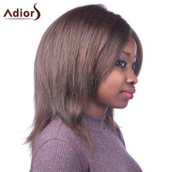 Outstanding Centre Parting Bouffant Straight Synthetic Fashion Medium Brown Mixed Women's Capless Wig - COLORMIX