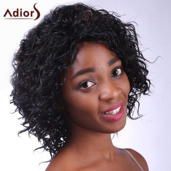 Fashion Deep Brown Highlight Synthetic Fluffy Kinky Curly Women's Short Wig - COLORMIX