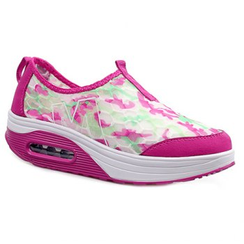 Casual Color Block and Slip-On Design Women's Sneakers