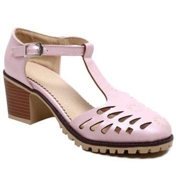 Casual T-Strap and Hollow Out Design Women's Pumps
