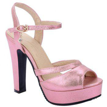 Trendy Peep Toe and Platform Design Women's Sandals