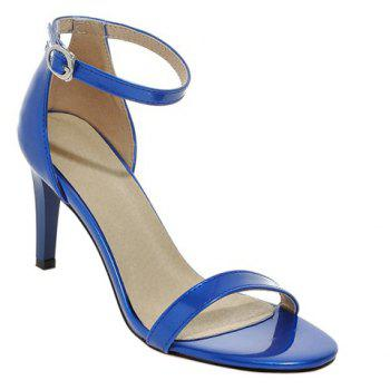 Stylish Stiletto Heel and Ankle Strap Design Women's Sandals