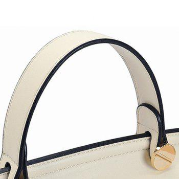 Fashion Hollow Out and Hasp Design Women's Tote Bag - MILK WHITE