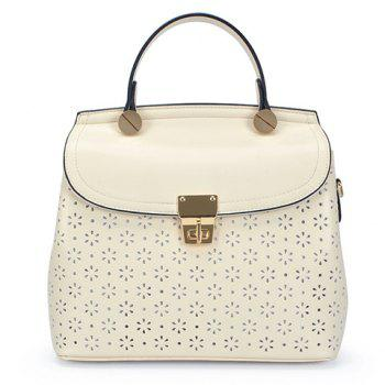 Fashion Hollow Out and Hasp Design Women's Tote Bag