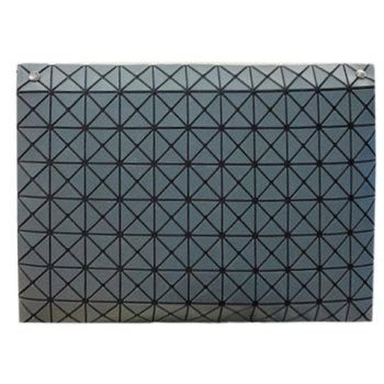 Stylish Checked and Cover Design Women's Clutch Bag - GRAY