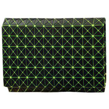 Stylish Checked and Black Design Women's Clutch Bag - GREEN GREEN