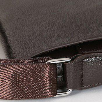 Stylish Dark Color and PU Leather Design Men's Messenger Bag - BROWN
